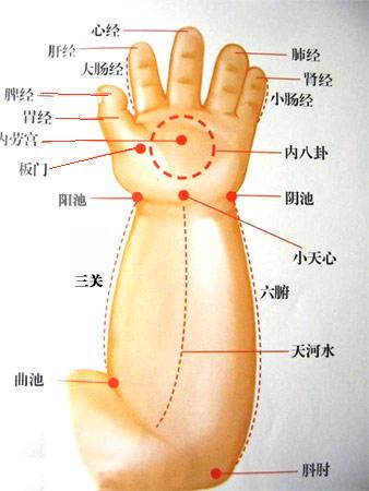 小儿支气管炎的按摩方法(图)