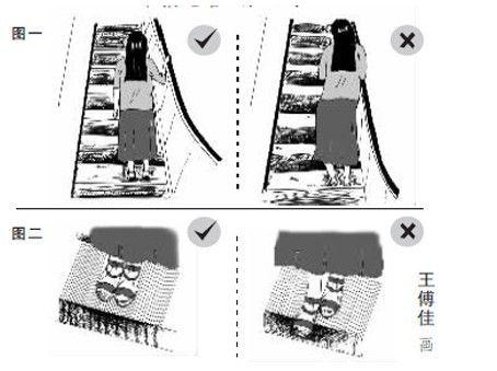 孩子怎样乘扶梯最安全?