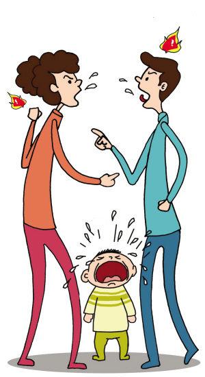 父母老吵架影响孩子长个子?漫画 张翠莲