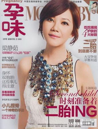 图为:《孕味》2014年3月刊封面