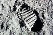 月球第一个人类脚印