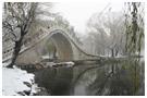 颐和园披雾戴雪美景