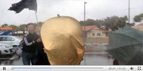 在特拉维夫遭遇大风暴