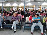 暴雨致大量旅客滞留首都机场