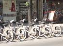巴黎街头的自行车