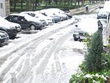 北京大雪过后道路泥泞