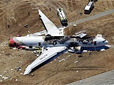 失事客机的残骸