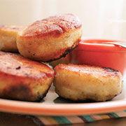 蒜苔猪肉馅饼