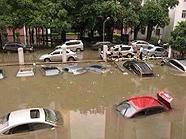深圳暴雨汽车被淹