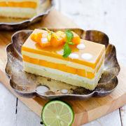 芒果白慕斯蛋糕