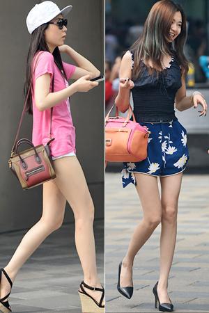 街拍:北京性感长腿美女