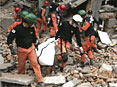 韩国救援队展开搜救工作
