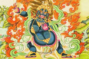 米玛次仁《手持金刚菩萨》