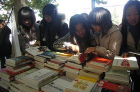 图书漂流活动来到中国农业大学