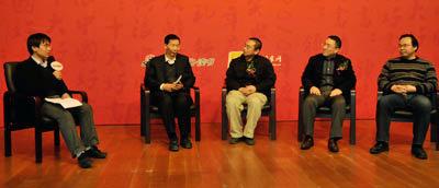 (左起)主持人:孟波  嘉宾:宋晓红、徐智明、陈非、尚红科