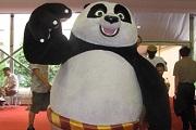 书展现场也有功夫熊猫