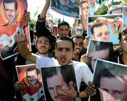 """叙政府支持者与反对者""""同聚"""""""