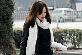 初春北京街头时尚美女
