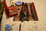 现场写字作画用的工具