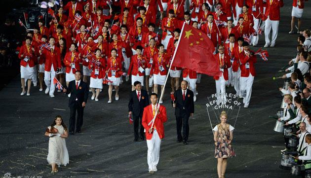 中国代表团入场 易建联任旗手群星闪耀