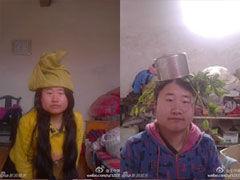 奇葩民间设计师 锅碗瓢盆头顶菜刀