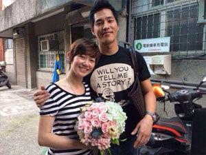 蓝正龙周幼婷登记结婚