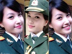 网曝越南女兵自拍 清秀可爱看呆男兵
