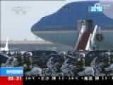 实拍奥巴马抵京现场 凯迪拉克专车曝光