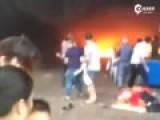 实拍福建一幼儿园着火 幼儿被从2楼抛下救出