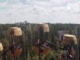 航拍诺贝利核电站爆炸地 一片荒凉似鬼城