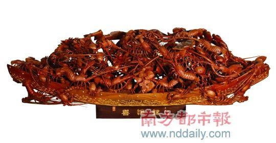 八百斤潮州木雕 价值超过千万元