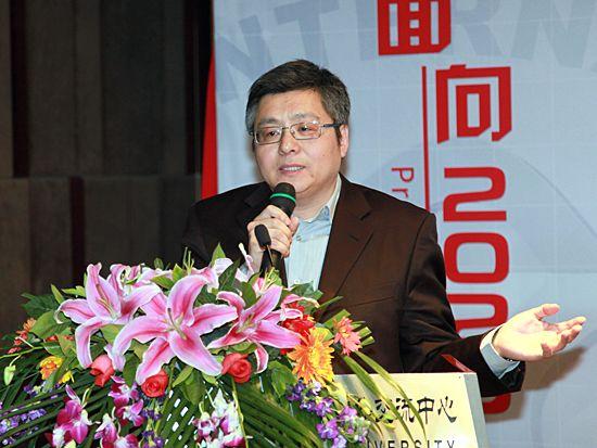 北京大学文化产业研究院研究员、北京大学信息管理系副主任周庆山(图片来源:新浪财经 梁斌 摄)