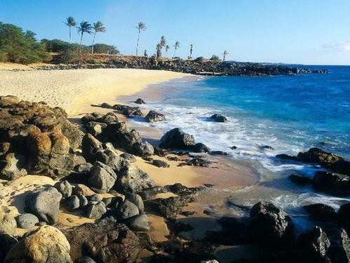 夏威夷的沙石