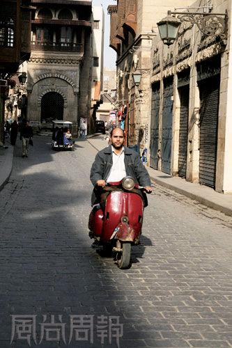 开罗小巷内生活也有优雅一面。