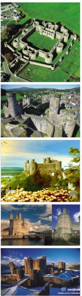"""英格兰国王爱德华用城堡形成一条""""铁锁链"""",将威尔士包围起来"""