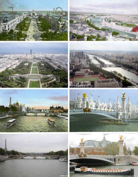 巴黎1900年、1960年和2006年对比照