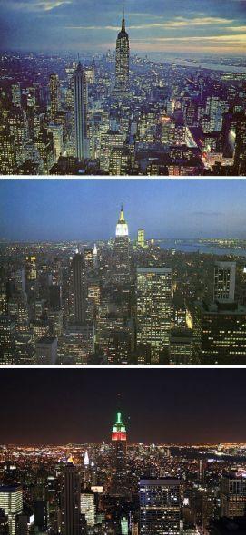 纽约1954年、1985年和2009年对比照
