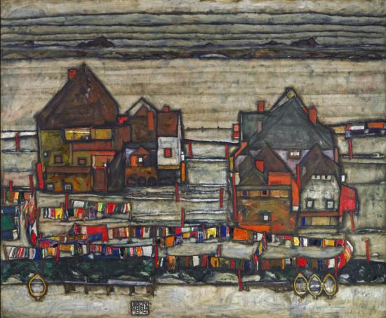 《房子与色彩缤纷的晾洗衣服,近郊II》