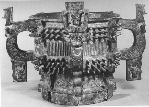 图4 乳钉纹四耳簋 西周时期 1928年陕西宝鸡戴家湾(斗鸡台)出土