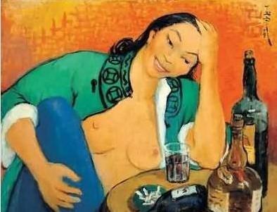潘玉良1949 年作《自画像》, 在2005 年香港佳士得秋拍就已突破千万,1021.84 万元成交。