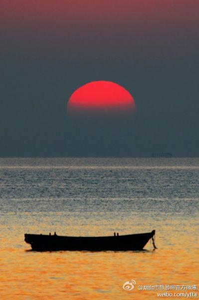 海上日出(摄于烟台)
