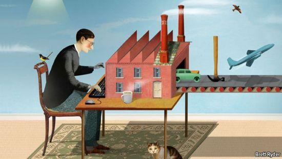 《第三次工業革命》作者傑裡米-裡夫金認為新一輪工業革命不是單一科技發明,把世界未來的發展依賴於現在地下的碳儲備是一件愚蠢的事情,應該將新能源技術和互聯網技術融合起來。