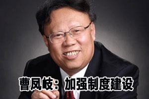 曹凤岐:增强投资者信心