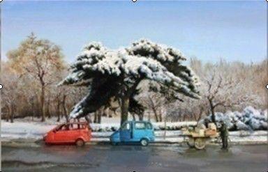 赵博《大冬天儿》 60x40 油画
