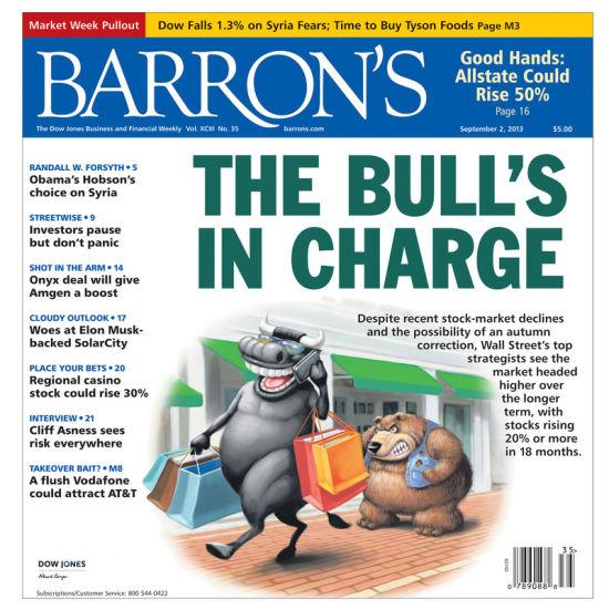 图为最新期《巴伦周刊》封面