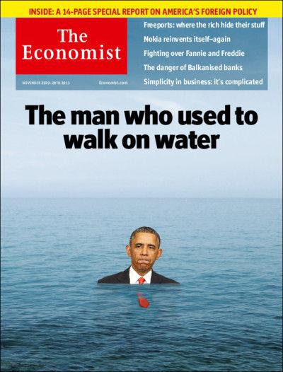 图为最新期《经济学人》杂志封面-鱼儿离不开油水图片