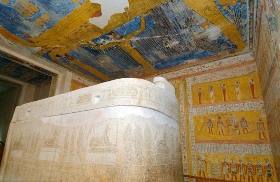 3000年前埃及法老墓壁画曝光图片