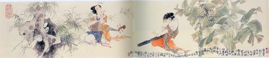 韩敏 琵琶行诗意图(2006年)18×85cm