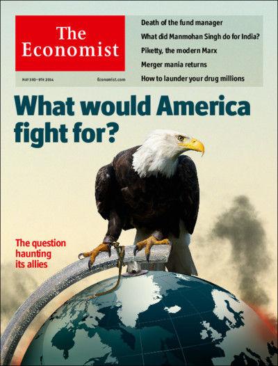 图为最新期《经济学人》封面文章