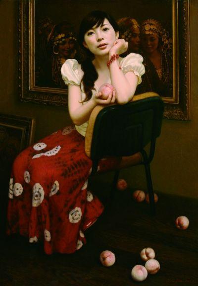 """《水蜜桃》选入""""2008中国百家金陵全国油画展""""。"""